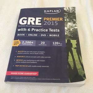 GRE Test Prep Book with 6 Practice Tests and DVD